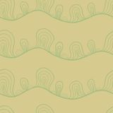 Abstract stylized seamless pattern Royalty Free Stock Images