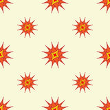Abstract stylized stars background. Repeating geometric pattern in bright warm colors. Vector. Abstract stylized stars background. Repeating geometric pattern in Stock Photos