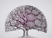 Abstract stylized tree. ecology, nature, environment  illustration Royalty Free Stock Photos