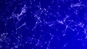 Abstract Subtle Blue Background - Plexus Nodes and Lines Hi Tech Connections vector illustration