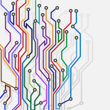 Abstract subway map. Vector illustration Royalty Free Illustration