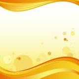 Abstract summer background. Abstract background in yellow and orange colors. Vector illustration Stock Images
