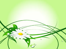 Abstract summer background. With plant. Simple gradients used vector illustration