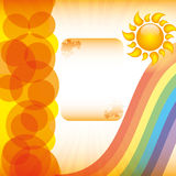 Abstract summer background. With sun Royalty Free Stock Images