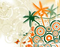 Abstract summer background royalty free illustration
