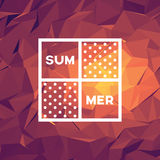 Abstract summer background with low poly vector illustration. Polygonal geometric shapes wallpaper. Royalty Free Stock Photography