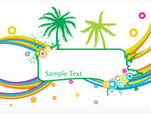Abstract summer background with sample text Stock Images