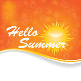 Abstract summer background.vector. Stock Image