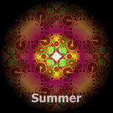 Abstract summer background with word summer. summer grunge invitation card Stock Images