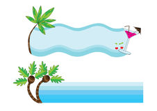 Abstract summer beach. Illustration of abstract summer beach, background Royalty Free Stock Images