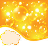 Abstract summer design background. With bubbles Royalty Free Stock Images