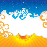 Abstract summer design background. Abstract summer design sky background Stock Photo