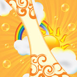 Abstract summer design background Royalty Free Stock Photos