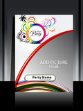 Abstract summer flayer design Royalty Free Stock Image