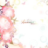 Abstract summer floral background Royalty Free Stock Image