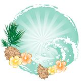 Abstract summer frame Royalty Free Stock Photo