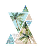 Abstract summer geometric background Royalty Free Stock Photo