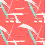 Abstract summer geometric endless pattern. Dots with brush strokes and marble grunge textures.  Royalty Free Stock Images