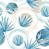 Abstract summer geometric seamless pattern. Stock Image
