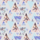 Abstract summer geometric seamless pattern Stock Photo