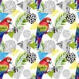 Abstract summer geometric seamless pattern Stock Photo