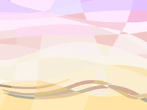 Abstract summer geometry background with wave. Stock Image