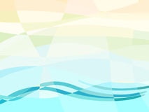 Abstract summer geometry background with wave. Royalty Free Stock Images