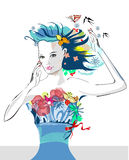 Abstract summer girl Stock Photo