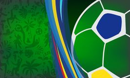 2019 Conmeball Copa America Abstract green Brazilian Summer Game Competition background. World of Brasil pattern. 2019 Abstract Soccer green Brazilian Summer stock illustration