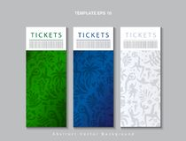 Tickets set vector 2019 Conmeball Copa America Abstract green Brazilian Summer Game Competition background Rio. Tickets set vector 2019 Conmeball Copa America royalty free illustration