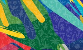 2019 Conmeball Copa America Abstract green Brazilian Summer Game Competition background World Cap of Brasil pattern. 2019 Conmeball Copa America 2019 Abstract vector illustration