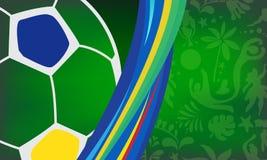 Abstract Summer 2019 Conmeball Copa America Abstract green Brazilian Summer Game Competition- Vector. 2019 Conmeball Copa America Abstract green Brazilian Summer stock illustration