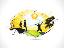 Abstract summer holiday background. Vector illustration Royalty Free Stock Images