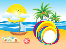 Abstract summer holiday background. Vector illustration Royalty Free Stock Photos