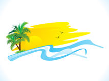 Abstract summer holiday background. Vector illustration Stock Photos