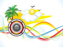 Abstract summer holiday party background Stock Image
