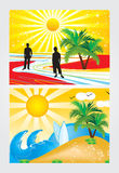 Abstract summer holiday theme. Illustration Royalty Free Stock Photos
