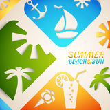 Abstract summer  illustration. Bright beach Royalty Free Stock Images