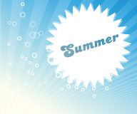 Abstract summer image stock illustration