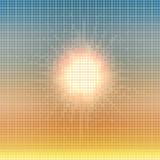 Abstract summer mosaic background. Abstract summer sun colorful mosaic background Stock Photo