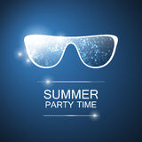 Abstract Summer Party Card, Cover or Flyer Template - Vector Design Concept Royalty Free Stock Image