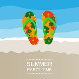 Abstract Summer Party Card or Cover Template Stock Image