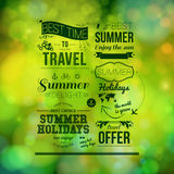 Abstract summer poster. Soft bokeh background, typography design Royalty Free Stock Image