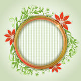 Abstract summer round frame Royalty Free Stock Photo