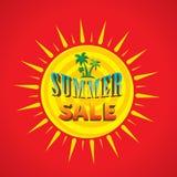 Big summer sale banner design. Abstract summer sale template banner design Stock Photos