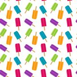 Abstract Summer Seamless Pattern Background with Ice Cream. Vector Illustration. EPS10 stock illustration