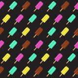 Abstract Summer Seamless Pattern Background with Ice Cream. Vector Illustration. EPS10 vector illustration