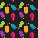Y2018-07-12-05. Abstract Summer Seamless Pattern Background with Ice Cream. Vector Illustration EPS10 Stock Photo