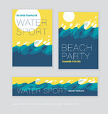 Abstract summer sunny sea wave background. Stock Photography