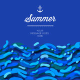 Abstract summer time background with blue wave Stock Photo